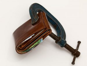 Wallet clamped